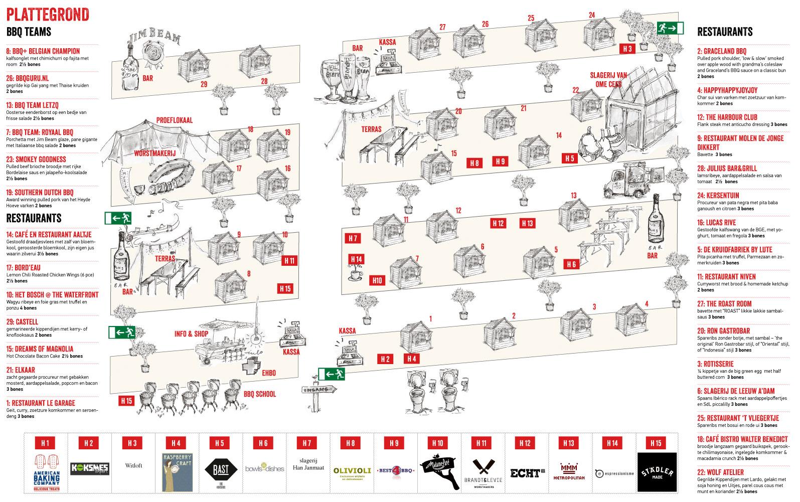 plattegrond Butcher's Heaven 11 en 12 juni Centrale Markthal Amsterdam