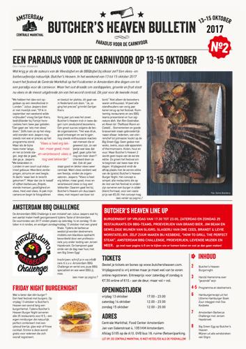 Butcher's Heaven Bulletin, editie 2, voorpagina