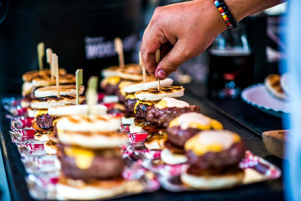 hamburgers op slider formaat